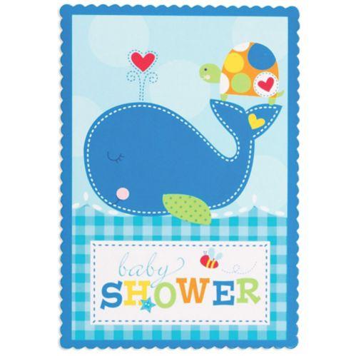 Baby Boy Ahoy Sticker Invitations, 8-pk