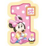 Minnie 1st Birthday Invitations, 8-pk