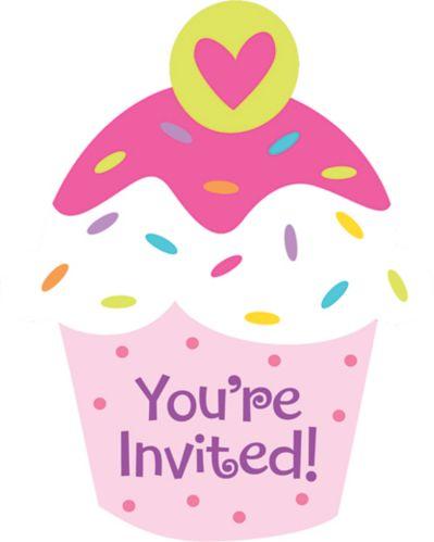 Cupcake Party Postcard Invitation