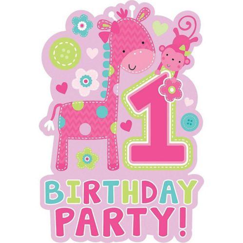 Wild at One Kids' 1st Birthday Invitations, 8-pk