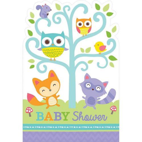 Woodland Baby Shower Invitations, 8-pk