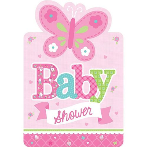 Welcome Baby Girl Baby Shower Invitations, 8-pk