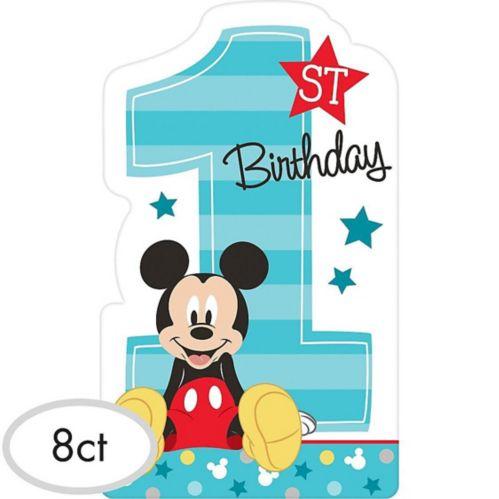 1st Birthday Mickey Mouse Invitations, 8-pk