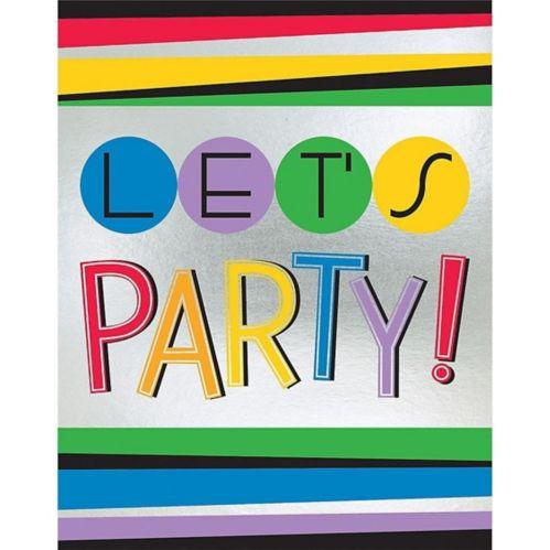 Rainbow Happy Birthday Invitations, 8-pk