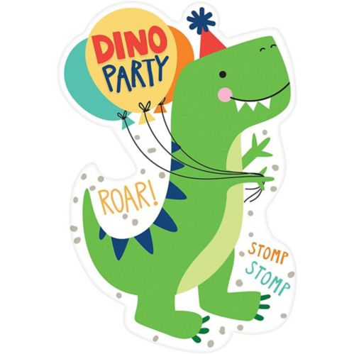 Invitations Dino-Mite, paq. 8