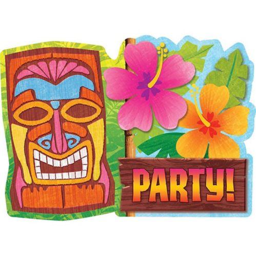 Tiki Man Invitations, 20-pk