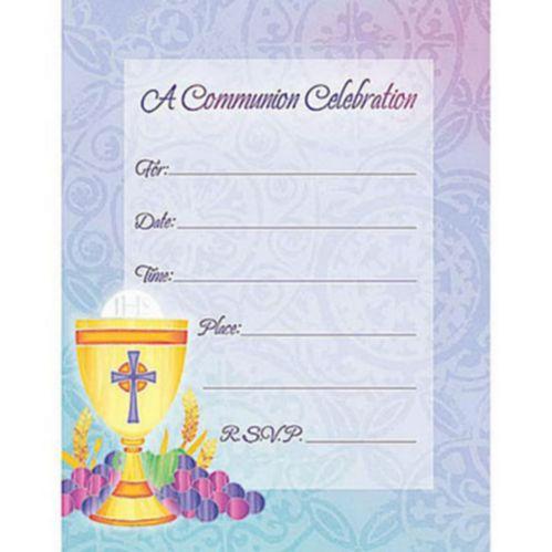 Value Pack Blessed Communion Invitations, 20-pk