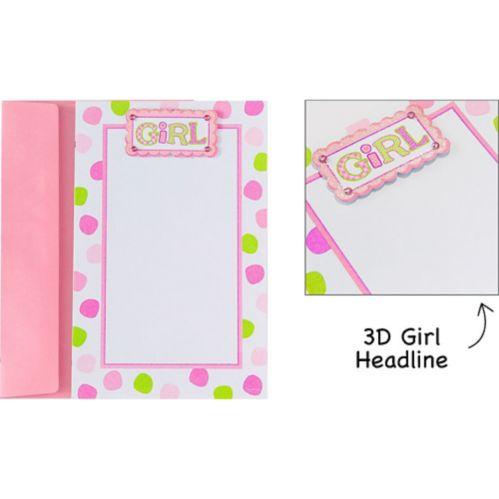 Printable Baby Pink Dot Invitations, 12-pk
