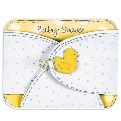 Baby Diaper Invitations, 8-pk