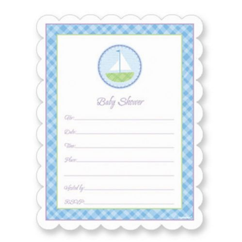 Blue Value Pack Baby Shower Invitations, 20-pk