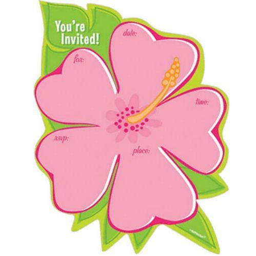 Tropical Flower Invitations, 50-pk