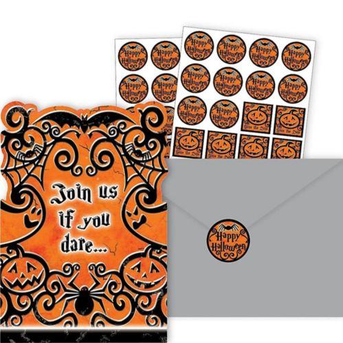 Gothic Greetings Halloween Invitations, 20-pk