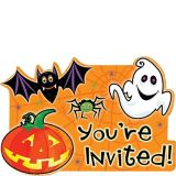 Scared Silly Halloween Invitations, 20-pk