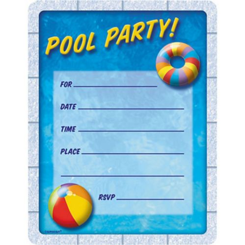Pool Party Invitation, 50-pc