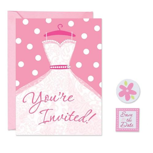 Pink Invitations With Seal, 8-pk