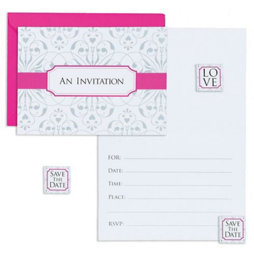 Blue Invitations With Seal, 8-pk