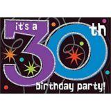 30th Birthday Party Invitations, 8-pk