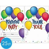 Balloon Fun Invitations, 50-pk