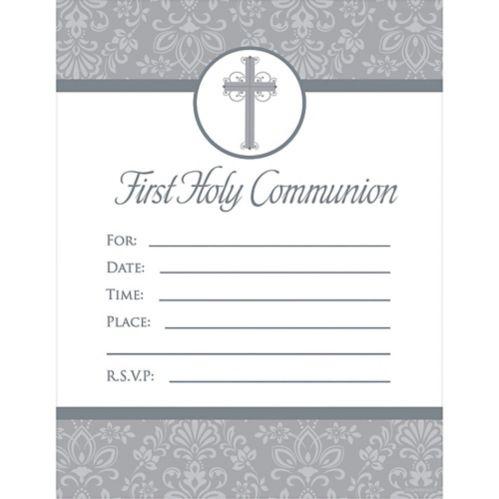 First Communion Invitations, 20-pk