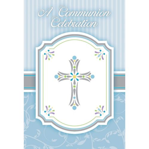 Communion Celebration Invitation, Blue