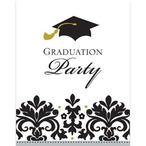 Black & White Graduation Invitations, 50-pk