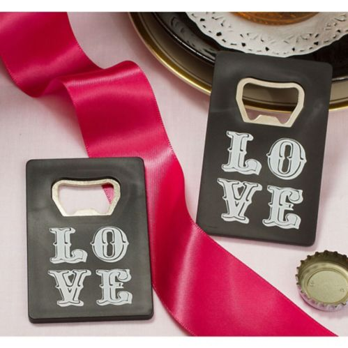 Chalkboard Love Credit Card Bottle Opener, Black
