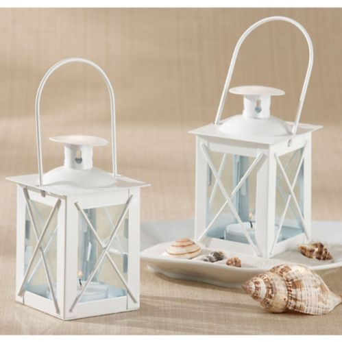 Mini White Lantern Tealight Candle Holder