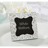 Chalkboard Silver Glitter Photo Frame Place Card Holder
