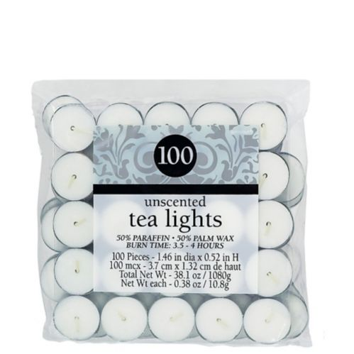Unscented White Tealight Candles, 100-pk