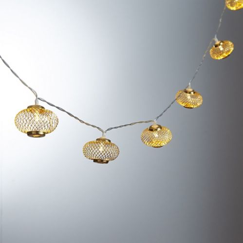 Gold Mesh Lantern LED String Lights