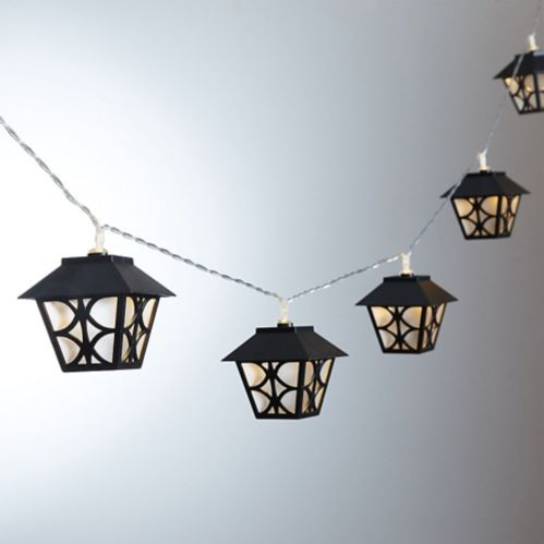Black Lantern LED String Lights