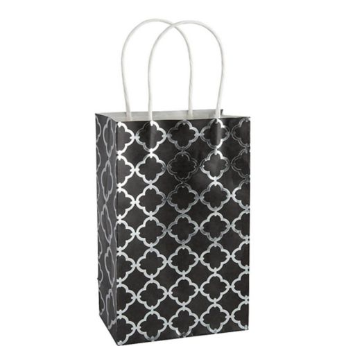 Medium Metallic Black Moroccan Kraft Gift Bag