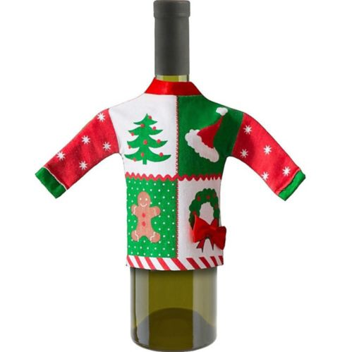 Ugly Sweater Wine Bottle Cover