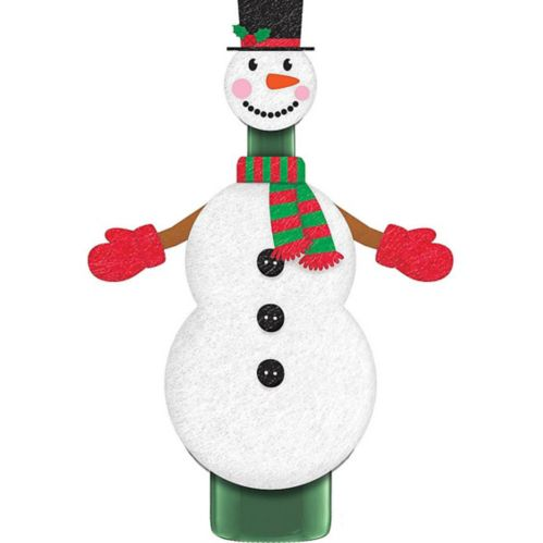 Snowman Wine Bottle Cover, 2-pk