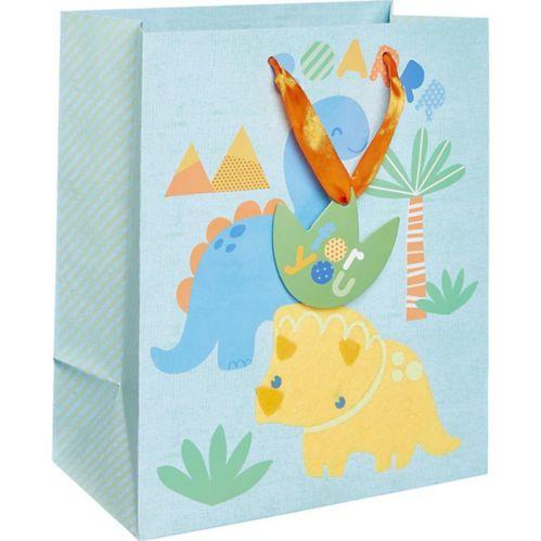 Small Glossy Friendly Dinosaurs Gift Bag