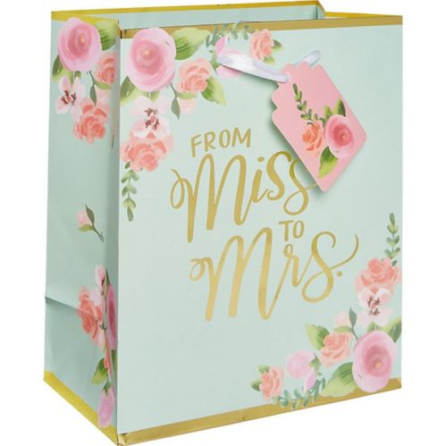 Small Paper Mint to Be Floral Gift Bag