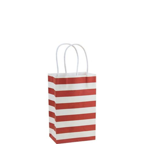 Apple Red Stripe Mini Gift Bag