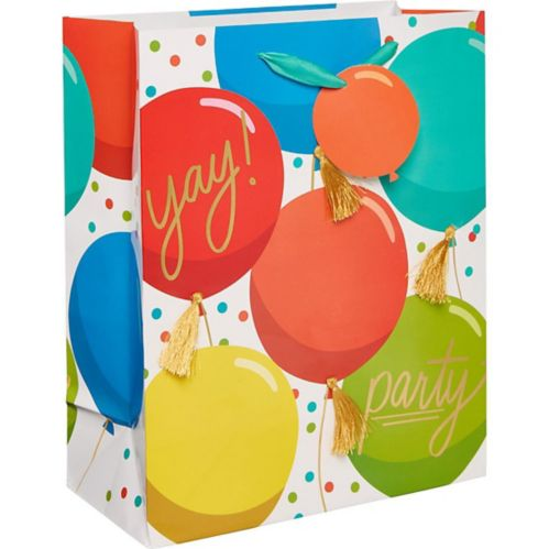 Medium Glossy colourful Balloons Gift Bag