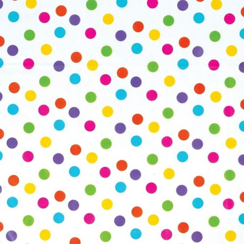 Multicolour Dot Printed Tissue Paper, 8-pk