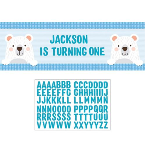Giant Beary Cute Personalized Birthday Banner Kit