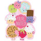 Premium Smiley Dessert Invitations, 8-pk