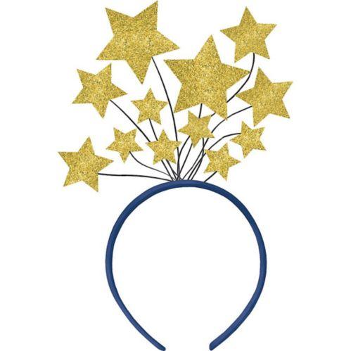 Glitter Gold Star Head Bopper
