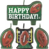 NFL Birthday Candles, 4-pk   Amscannull