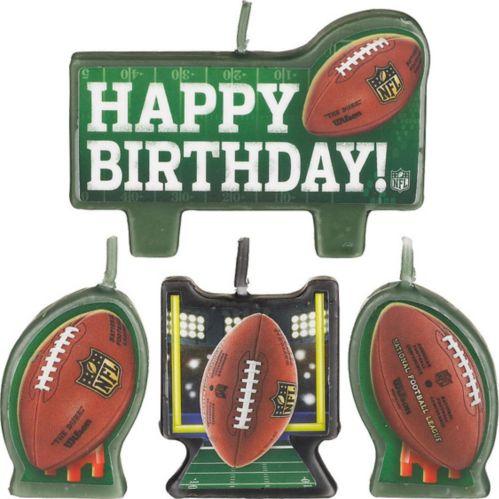 NFL Birthday Candles, 4-pk