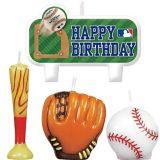 Rawlings Baseball Birthday Candles, 4-pk   Amscannull