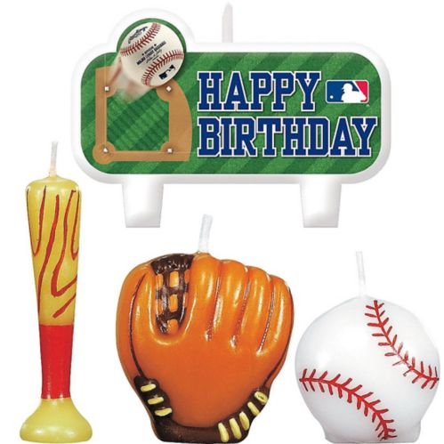 Rawlings Baseball Birthday Candles, 4-pk