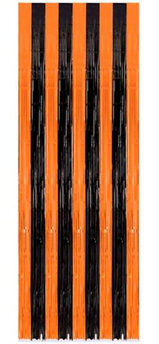 Black & Orange Door Curtain