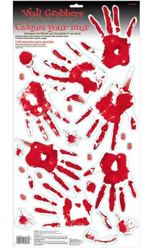 Bloody Hand Wall Decals