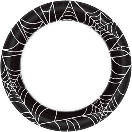 Assiettes à dîner, toile d'araignée, 6,75po, paq. 40 Image de l'article