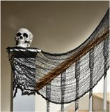 Creepy Halloween Cloth, Black, 5-ft